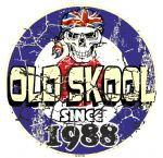 Distressed Aged OLD SKOOL SINCE 1988 Mod Target Dated Design Vinyl Car sticker decal  80x80mm